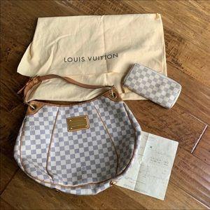 Authentic Louis Vuitton Galliera Damier Azur Purse
